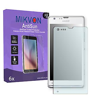 Sony Xperia SP Screen Protector - Mikvon AntiSun (Retail Package with accessories)
