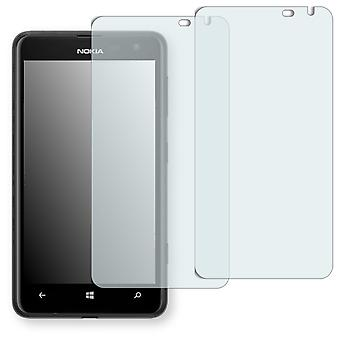 Nokia Lumia 625 display protector - Golebo Semimatt protector (deliberately smaller than the display, as this is arched)