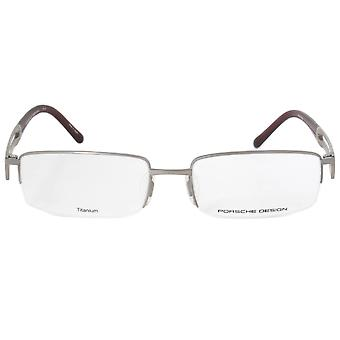 Porsche Design P8703 C Rectangular | Matte Silver| Eyeglass Frames