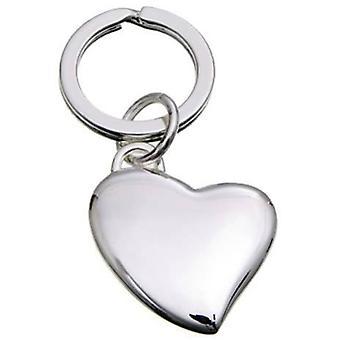 David Van Hagen Heart Keyring - Silver
