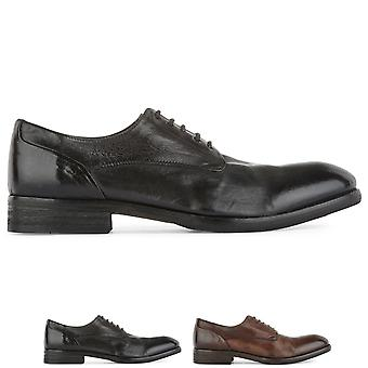 Mens H By Hudson Dorsay Leather Flat Office Smart Work Business Shoes