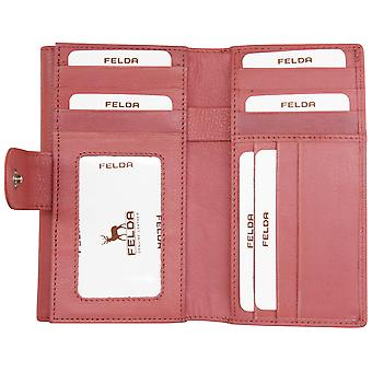 Felda RFID lederen envelop portemonnee zachte portemonnee 13-kaartsleuf