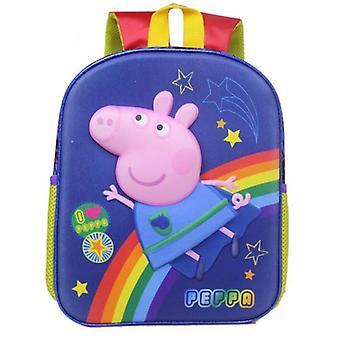 Peppa Pig Kids Backpack-Blue