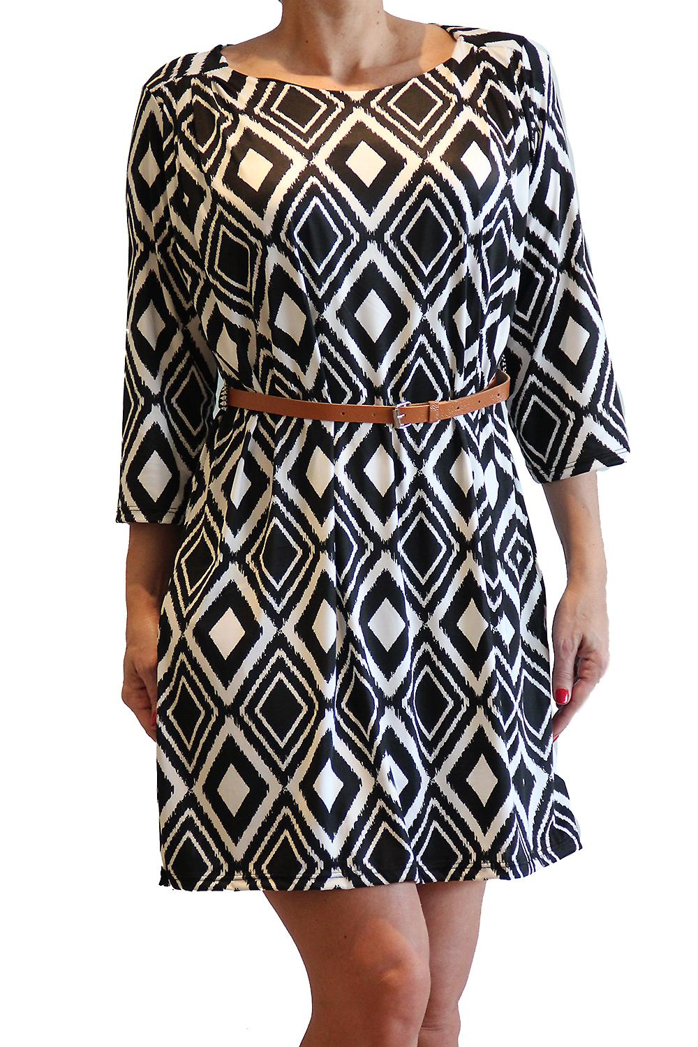 Waooh - Fashion - Dress right geometric print and belt