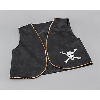 Pirate Waistcoat. Black Distressed.
