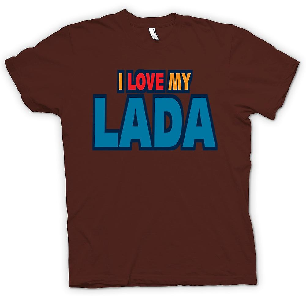Mens T-shirt - I Love My Lada - Car Enthusiast