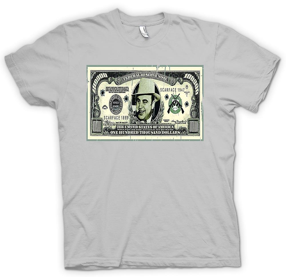 Mens T-shirt - 100k $ Bill - Al Capone Note