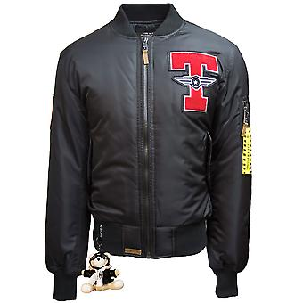 Top Gun Tomcat Bomber Jacket Black