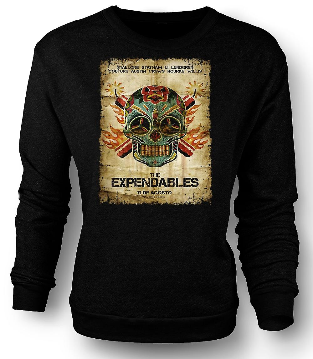 Mens Sweatshirt l'affiche Expendables - B Movie-