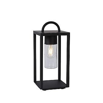 Lucide Glimmer moderne rektangel metall svart bordlampe