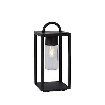 Lucide Glimmer Modern Rectangle Metal Black Table Lamp