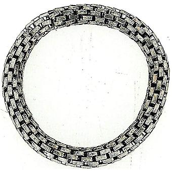 TOC Antique Silvertone Metal Chunky Mesh Effect Elasticated Bracelet