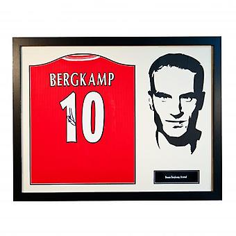 Arsenal Bergkamp Signed Shirt Silhouette