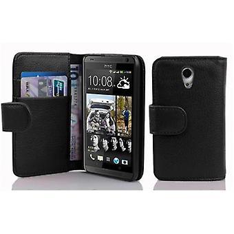 Cadorabo Hülle für HTC DESIRE 700 -Handyhülle aus strukturiertem Kunstleder mit Standfunktion und Kartenfach – Case Cover Schutzhülle Etui Tasche Book Klapp Style