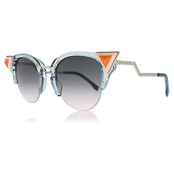Fendi FF0041/N/S BR0 Blue / Pink FF0041/N/S Cats Eyes Sunglasses Lens Category 3 Size 52mm