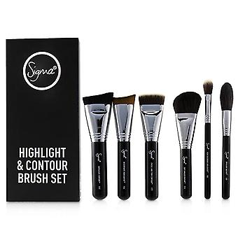 Sigma Beauty Highlight and Contour Brush Set - 7pcs