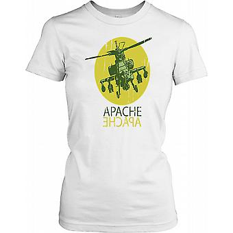Apache Attack Helicopter Ladies T Shirt