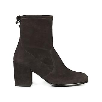 Stuart Weitzman Womens Shorty Leather Closed Toe Ankle Fashion Boots