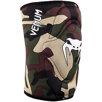 Venum Kontact Gel MMA BJJ Slip On Knee Pad - Forest Camo