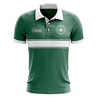 Macau conceito Stripe Polo camisa (verde)
