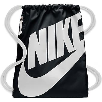 Nike Mens Heritage Drawcord Zipped Pocket Gymsac Bag