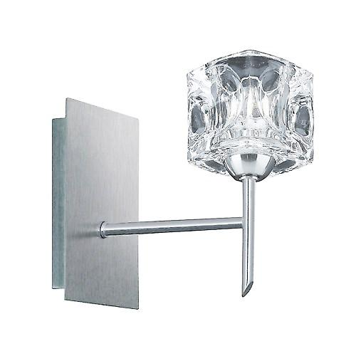 Searchlight 4341-1 Ice Cube 1 Light Wall Bracket With Ice Cube - Satin Silver