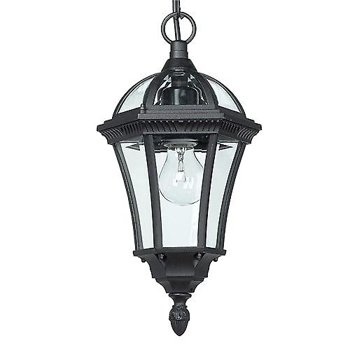 Endon YG-3503 Stylish Traditional Black Aluminium Outdoor Hanging Porch Lantern