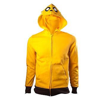 Mannen avontuur tijd Jake karakter zip-up hoodie