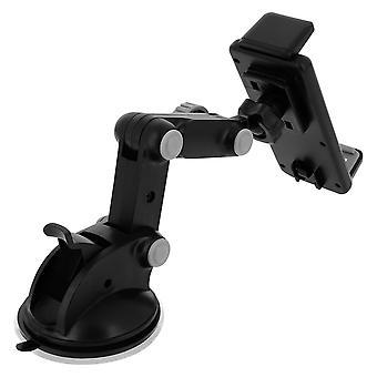 Soporte para coche smartphone 112 a 145mm 270 ° soporte de montaje de ventosa giratoria negro