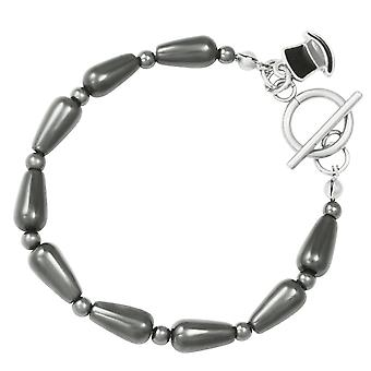 Eternal Collection Bewitching Hematite Beaded Bracelet