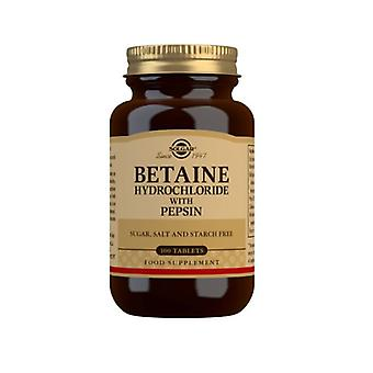 Solgar Betaine Hydrochloride With Pepsin 100 Tablets (240)