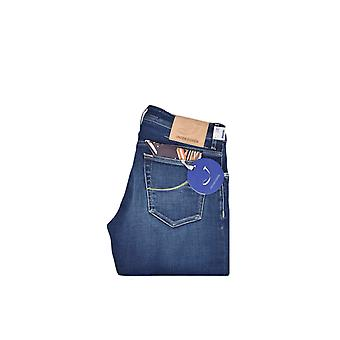 Jacob Cohen J620 Regular Straight Fit Jeans Deep Blue Wash Denim