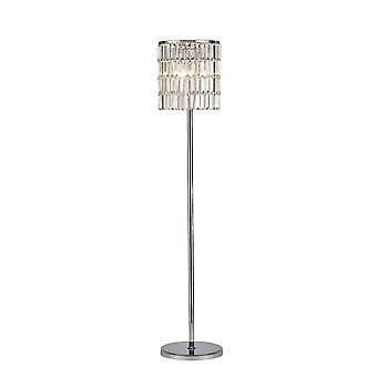 Diyas Torre Crystal Curtain Floor Lamp 5 Light Polished Chrome