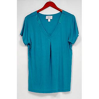 Carole hochman vrouwen ' s Nachthemd modal spandex satijn blauw A292529