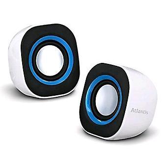 Atlantis land soundpower 410 portable powered pc speakers white