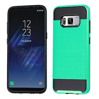 ASMYNA Green/Black Brushed Hybrid Case for Galaxy S8 Plus