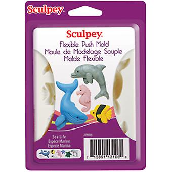Sculpey flexibles Push Mold mer vie Apm 06