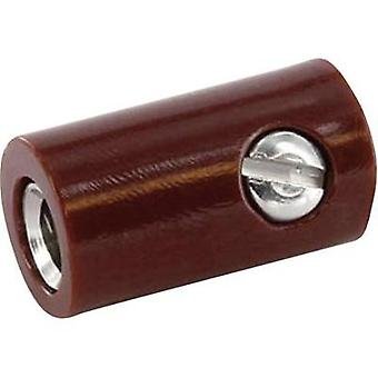 Jack socket Connector, straight Pin diameter: 2.6 mm Brown econ connect HOKBR 1 pc(s)