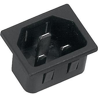 IEC connector C20 ATT.LOV.SERIES_POWERCONNECTORS 42R Plug, vertical mount Total number of pins: 2 + PE 16 A Black K & B