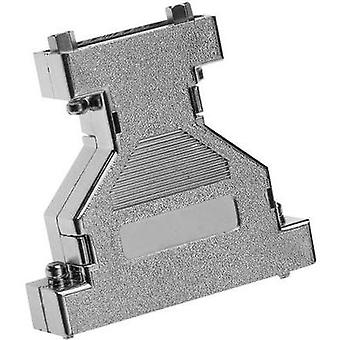 D-SUB adapter housing Number of pins: 9, 9 Plastic, metallised 180 °