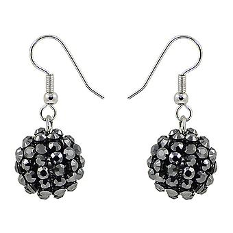 Crystal Mesh Ball Earrings EMB115.9