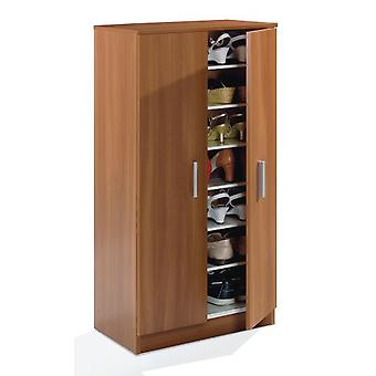 Bricohabitat Basic Zapatero-Wardrobe (6 Shelves) Brown 55X108X36 Cm