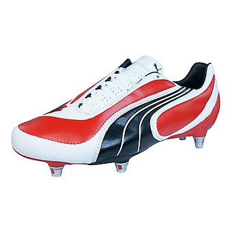 Puma V3.08 SG Mens Leather Football Boots / Cleats - Red