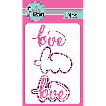 Pink And Main Dies-Love, 2/Pkg PNM030
