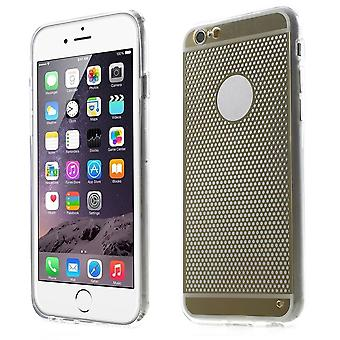 Cover with rubber circles TPU case for iPhone Plus 5.5 6 (Golden)