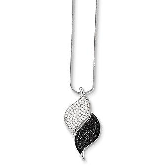 Sterling Silver and CZ Necklace - 18 Inch