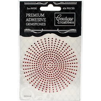 Couture Creations Self-Adhesive Gemstones 2mm 424/Pkg-Maraschino CO724149
