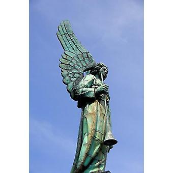 Ansicht von Engel in Quebec-Montreal-Plakat-Druck von Cindy Miller Hopkins