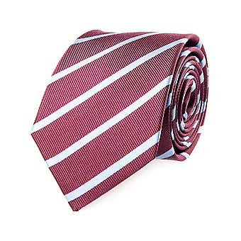 Pelo classic tie silk silk tie Bordeaux light blue striped 7.5 cm