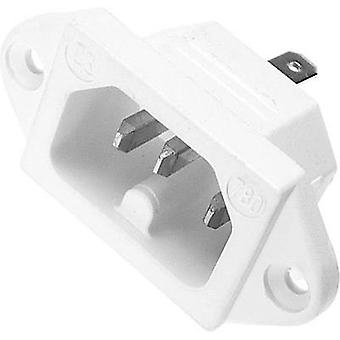 Hot wire connector C16 ATT.LOV.SERIES_POWERCONNECTORS 780 Plug, vertical mount Total number of pins: 2 + PE 10 A White K